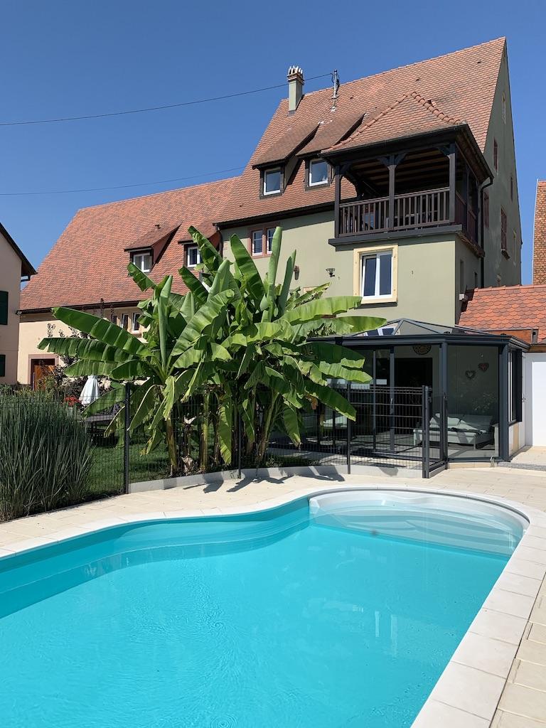 Jardin-piscine-maison-Pfaffenheim-Gîte